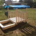Außenbereich - Sandkasten für unsere Kleinen