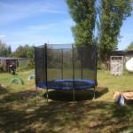 Außenbereich - Trampolin für unsere Kleinen